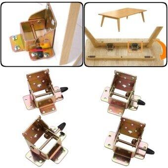 4 Pcs/lot Pengunci Braket Lipat Meja Lipat Engsel Kaki dengan Sekrup- Internasional