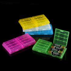 5 Colors Multifunctional Transparent Hard Plastic Case Holder Storage Box For AA AAA Battery