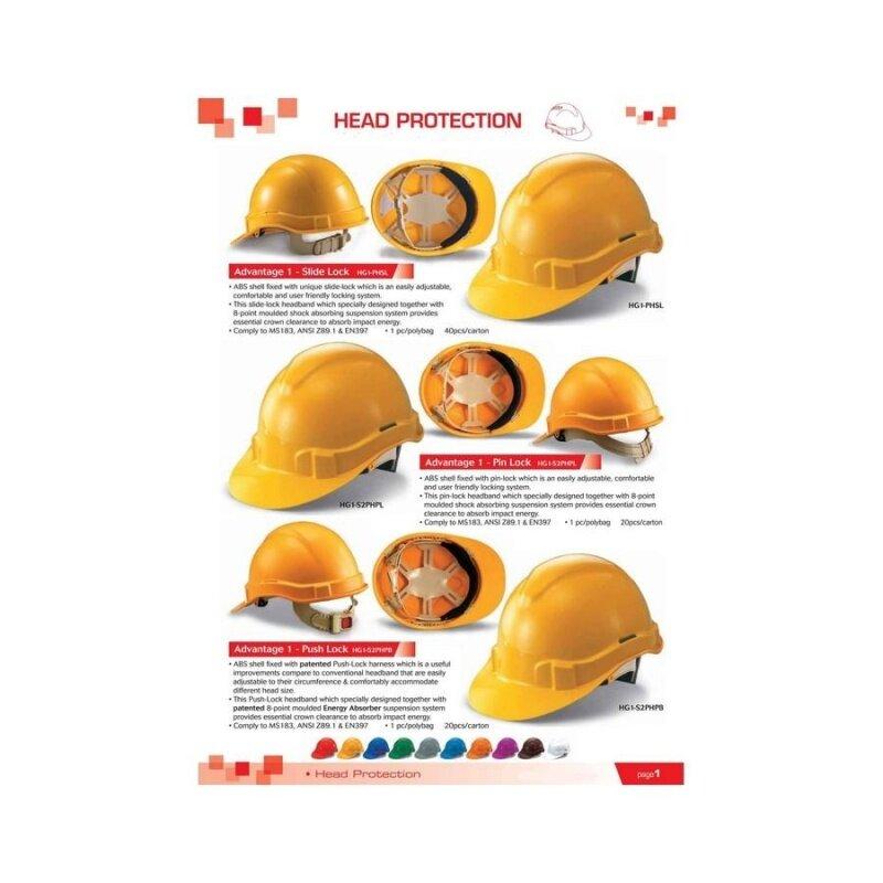 5 pcs Orange Proguard Advantage 1 Industrial Safety Helmet Sirim Certified