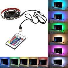 5050 USB Light RGB Multi Color LED Strip Light 24 Keys Remote Control( size:2m )