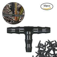 50pcs Sets Tee Joint Hose Connectors Irrigation Barbed Water Pipe Watering System