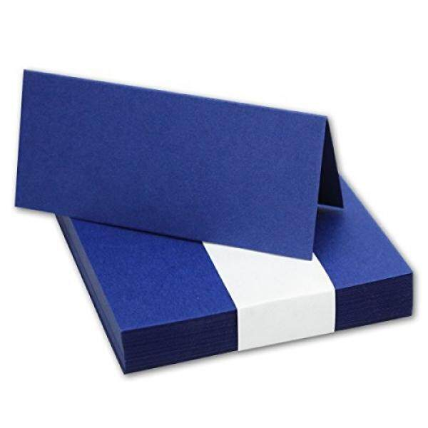 50x Tischkarten Di Nacht-Blau//Größe: 100x90mm (gefaltet 100x45mm) //240g/m²-Sehr Schwere Und Stabile Qualität//Aus Der Serie FarbenFroh Von NEUSER! -Intl