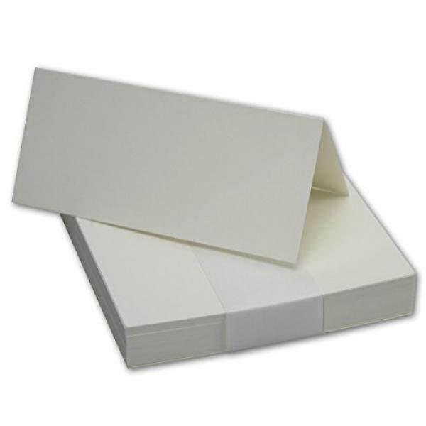 50x Tischkarten Di Naturweiß/Chamois//Größe: 100x90mm//240g/m²-Sehr Schwere Und Stabile Qualität//Aus Der Serie FarbenFroh Von NEUSER! -Intl