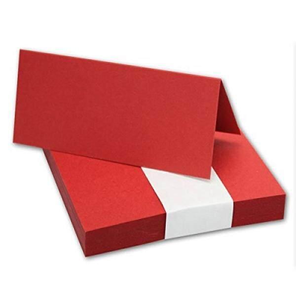 50x Tischkarten Dalam Rosen-Rot//Größe: 100x90mm (gefaltet 100x45mm) //240g/m²-Sehr Schwere Und Stabile Qualität//Aus Der Serie FarbenFroh Von NEUSER! -Intl