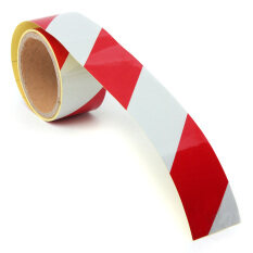 5CMx3M Reflective Safety Warning Conspicuity Tape Roll Film Sticker Multicolor Truck White&Red