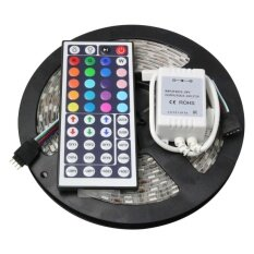 5M/roll RGB LED Strip Waterproof 60 Leds/M SMD5050 LED FlexibleLight + 44 key IR Remote For Christma Decoration