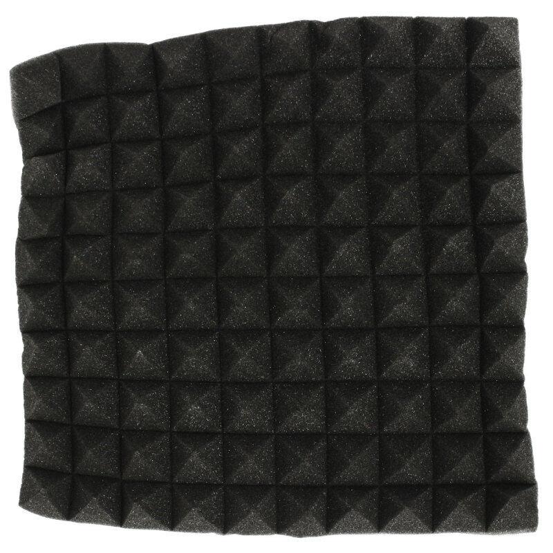 5pcs 45x45cmx5.5cm Acoustic Soundproof Sound Stop Absorption Pyramid Studio Foam black - intl