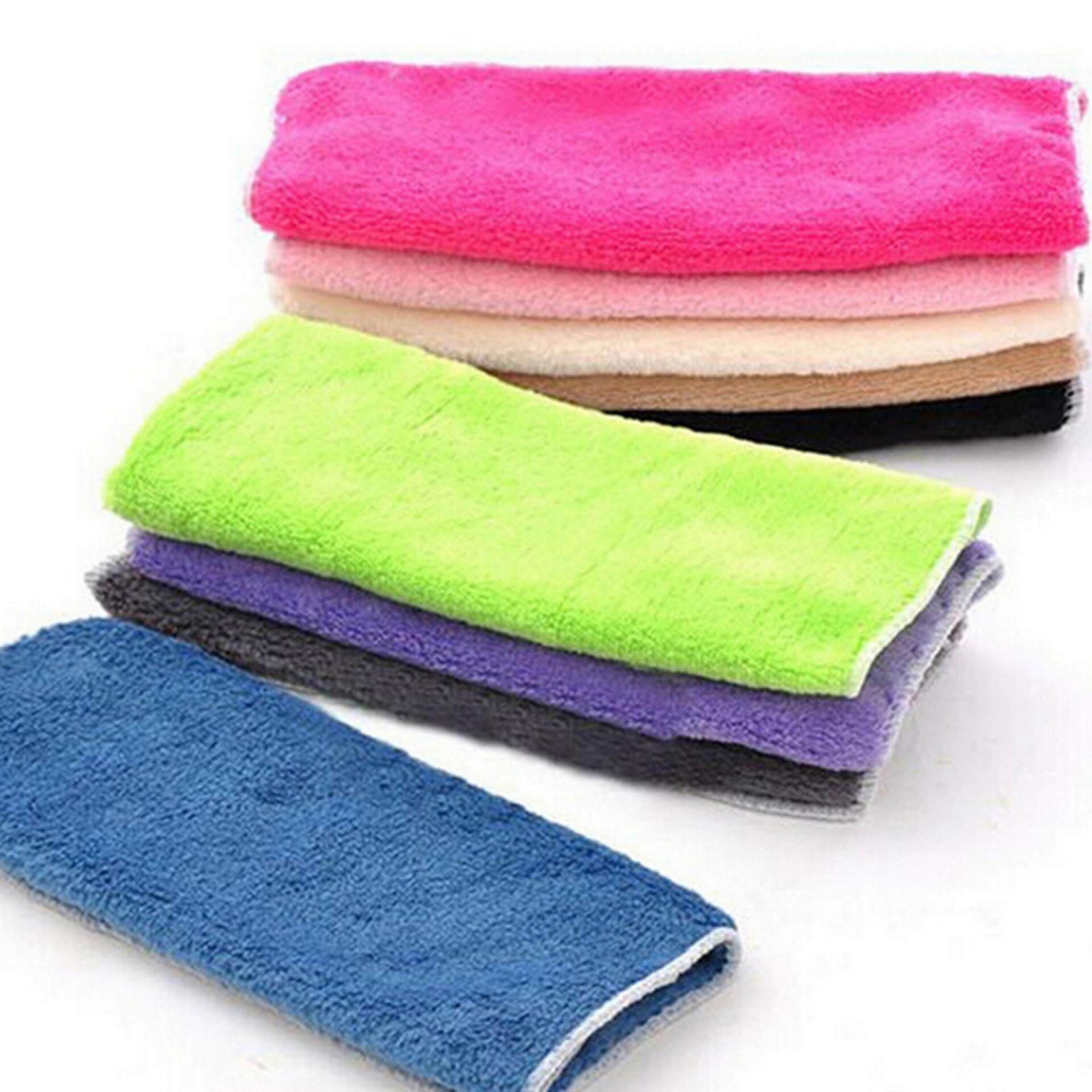 5pcs Bamboo Fiber Dish Towel Cloths 25 25cm Kitchen Hang Dishcloth Cleaning