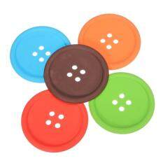 5pcs Cup Cushion Holder Cute Colorful Silicone Button Coaster Drink Placemat Mat (intl) By Sunnny2015.