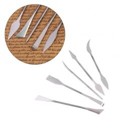 5Pcs Durable Stainless Steel Wax Clay Pottery Carving Modeling Sculpture DIY Craft Art Tools Set