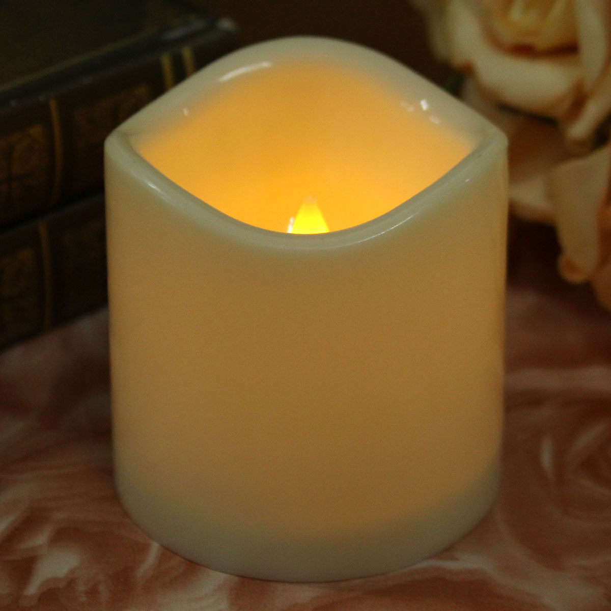 5PCS Fashion Led Flameless Flickering Tealight Candles Battery Operated For Wedding Birthday Party Christmas Safty Home
