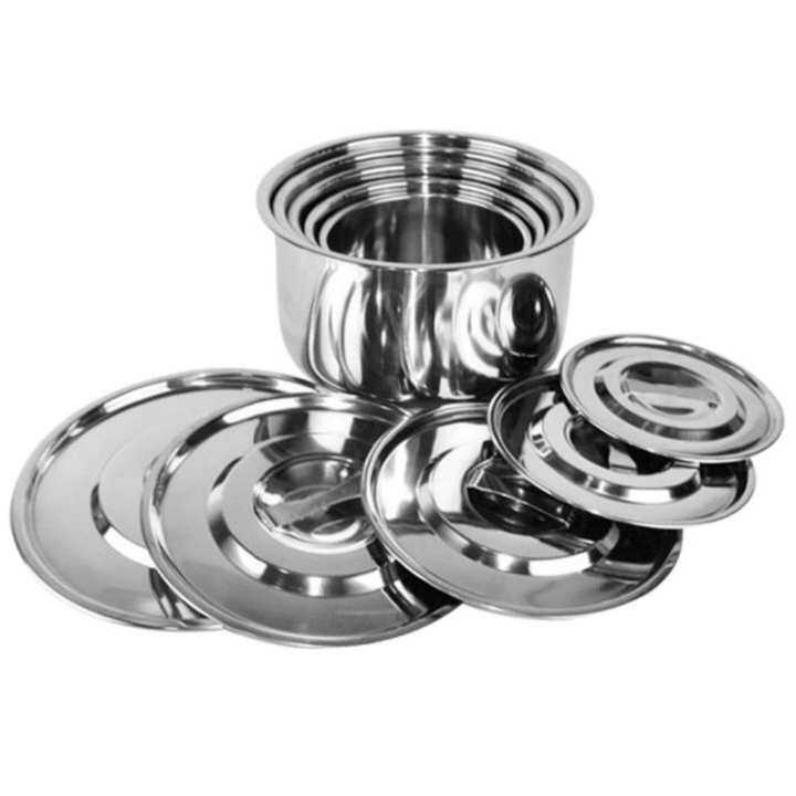 5pcs / set / pieces Stainless Steel Multipurpose Stock Pot