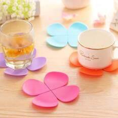 5Pcs Silicone Cup Mat & Pads Tea Placemat Coaster Sets Special Creative Mats 4 Pcs Flower Shaped