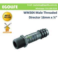 10pcs WM304 Male Threaded Director 16mm x 1/2 Irrigation Hose Pipe Connector
