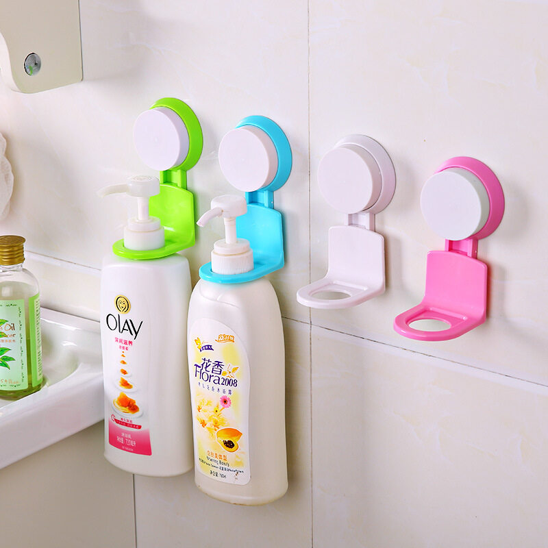 5PC/Set Toilet Strong Suction Drum Hanger Hooks Pink