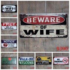 5pcs/lot 30x15cm Free Wifi Metal Signs Retro Tin Sign Poster Metal Plaques Home Shop Bar Club Wall Decorations Art Paintings