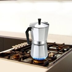 6-Cup Aluminum Espresso Percolator Coffee Stovetop Maker Mocha Pot For Use On Gas Or Electric Stove By Tomnet.
