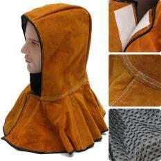 60cm Leather Hood Helmet Mask Protector Cap For Welder Electric Welding Work