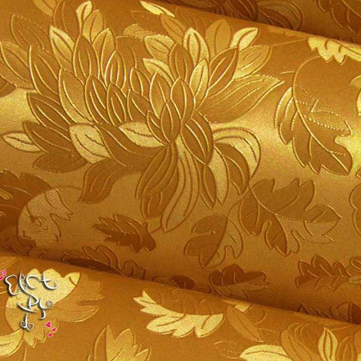 60cm*2.5m Luxury 3D Self-adhesive Wallpaper Roll Home Decals For TV Sofa Backdrop (Gold)