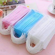 60Pcs/lot Dust Surgical Dental Medical New Mouth Disposable Masks Face Ear Loop(White)
