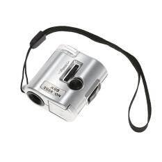 60X Mini Microscope Jeweler Loupe Lens Illuminated Magnifier Glass with   UV Light