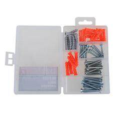 62pcs Wall Anchor Expansion Screw Small Screws Hardware