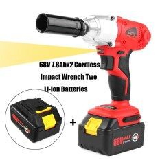 68V Cordless Impact Wrench 7.8Ah +2 Li-ion Battery High Torque 300Nm Power Tool