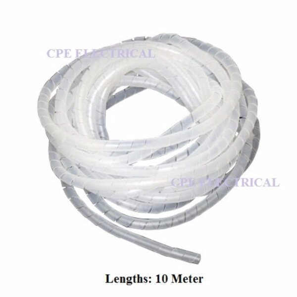 6MM SPIRAL WRAPPING BANDS Cable Tidy Binding Organiser Management 10 Meter LEBIH TEBAL!!!