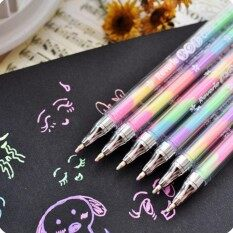 6pcs/ Lot Cute Ink 6 Color Highlighter Marker Stationery Gel Pen Colorful Stationery Writing Painting Pen By Lovestory Store.