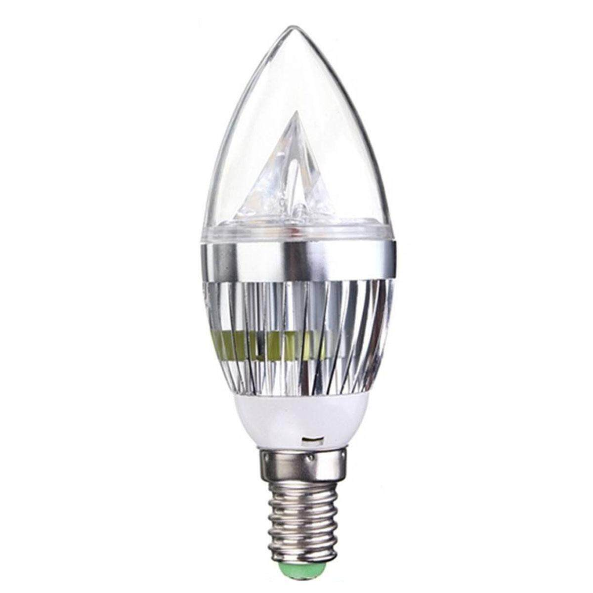 6x E14 4.5W LED Candle Bulbs Warm White Non Dimmable Replace 40W Incandescent Bulb Lamp 550LM 3 SMD Chandeliers Wall Light Silver Shell - intl