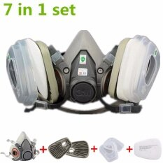 7 in 1 Suit Painting Spraying Half Face Facepiece Dust Mask Respirator  For6200 N95