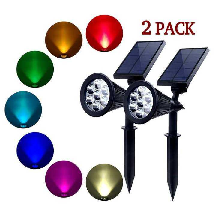 7 LED Color Changing Solar Waterproof Garden Outdoor