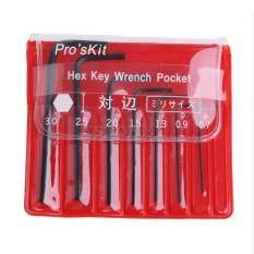 7pcs 0.7mm-3mm Kit Mini Micro Hex Hexagon clé Allen Set Clé Outil Tournevis