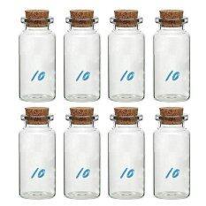 8 ชิ้น 10 มิลลิลิตรขนาดเล็กขวดแก้วขวดเก็บฝัน.
