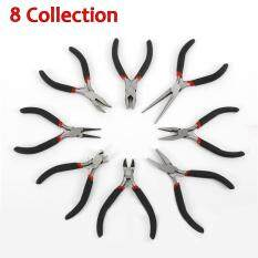 8 Pcs Mini Pliers Tools Set For Making Beading Round Flat Long Nose size:1-8#