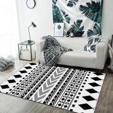 80*160CM Nordic Living Room Carpets Rugs Non Slip Sofa Tea Table Mats Pads Geometric Patterns Tatami Mat Bedroom Carpets Soft Bedside Footcloth Balcony Mats