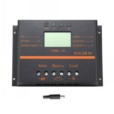 80A LCD PWM Solar Panel Charge Controller Battery Regulator 12V/24V Auto