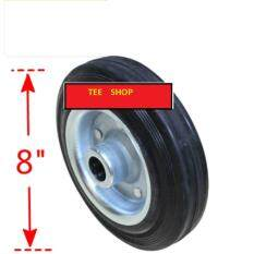 8 Rubber Roller Bearing Single Caster Wheel (200mmx25mm HOLE)