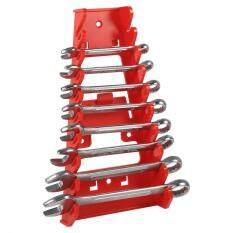 epayst 9 Slot Red Plastic Wrench Rack Standard Organizer Holder Storage Tool Wrenches Keeper
