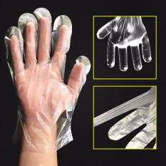 95 pcs Disposable Plastic Gloves for Cleaning Prepare Food Clear