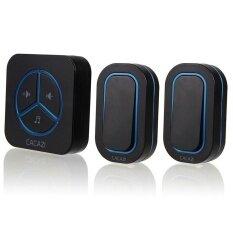 9909 Black.2 Emitters to 1 Receiver Waterproof 280MLong-RangeWireless DoorBell.Wireless Door Chime.Wireless Bell