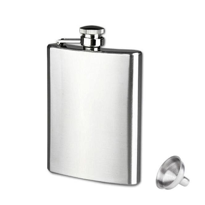 Stainless Steel 1701 G Pinggul Botol Minuman Alkohol Wiski Source 9 Oz Anti Karat Saku Panggul
