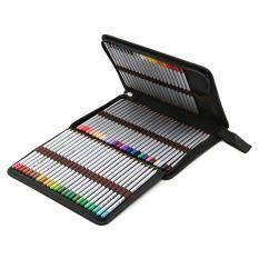 5bc727509ba5 Treeone Pencil Holder Bag Pencil Zippered Wrap Colored Pencils Organizer  Case Roll Multi Foldable Purpose Pouch,72 Slot,Black