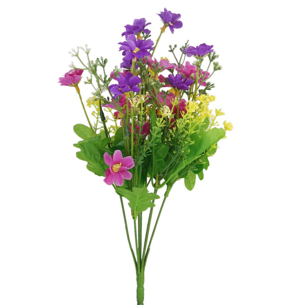 Sekelompok Cineraria Palsu Buatan Bunga Buket Rumah Kantor Dekor Fuchsia  dan Ungu-Internasional e0947b6438