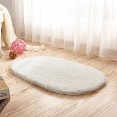 Absorbent Soft Bathroom Bedroom Floor Non-Slip Mat Bath Shower Rug Plush Carpet Milk White By Five Star Store.