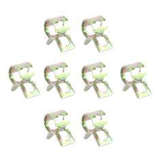 AC 20x 6mm Spring Band Type Fuel Vacuum Hose Clip Silicone Oil Water Parts Zinc Plating
