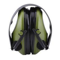 Qianmei Active Noise Reduction Earmuffs Headset Ear Defenders Hearing Protection (Army Green)