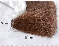 Sliding Sash Door Window Brush Seals Felt Draught Excluder Adhesive Wool Pile  Weatherstrip 9 x 23MM 10 Meters Brown