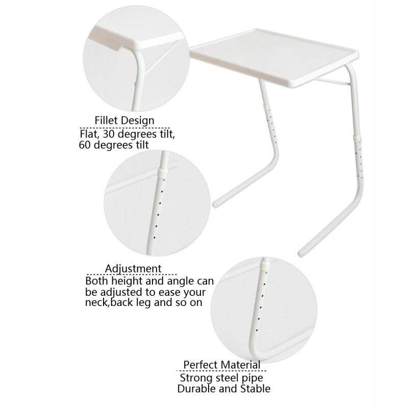 【Follow Store Get Voucher】Adjustable Folding Table Dinner Coffee Laptop Table Mate Travelling Tray Tall