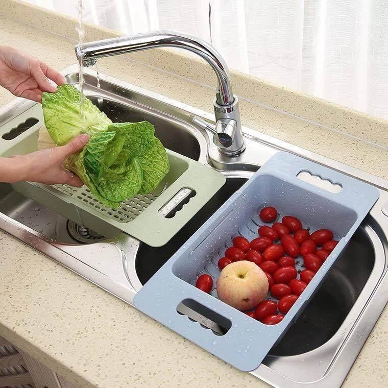 Adjustable Sink Basket (Kitchen Sink Accessories), Pink
